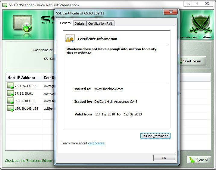 Vorschau SSL Certificate Scanner - Bild 3
