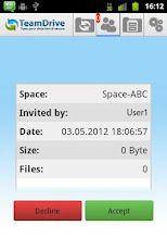 Vorschau TeamDrive for Android - Bild 3