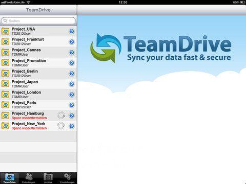 Vorschau TeamDrive for iOS - Bild 3