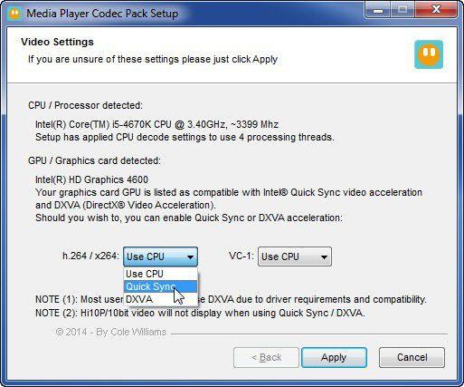 Vorschau Media Player Codec Pack - Bild 3