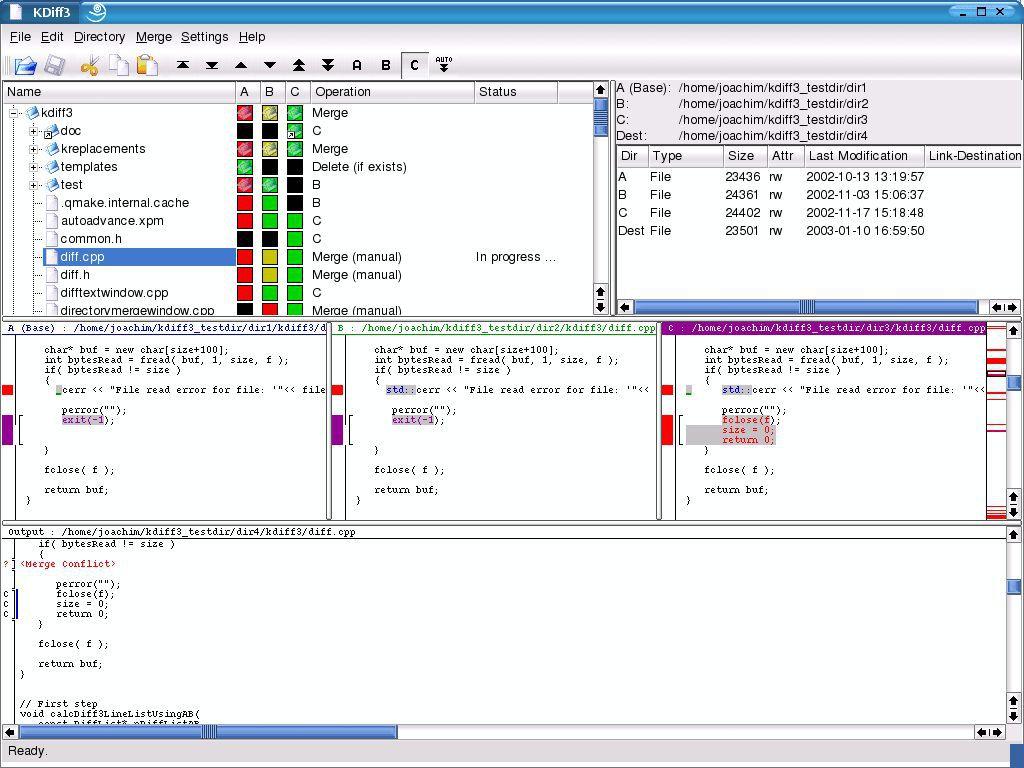 Vorschau KDiff3 for Linux - Bild 3