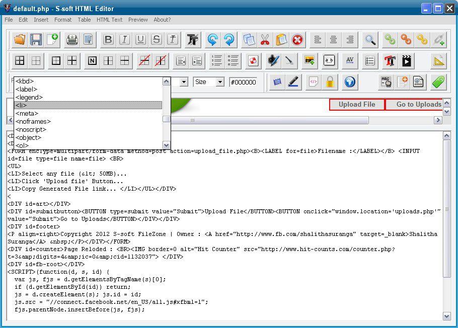 Vorschau S-soft HTML Editor Free - Bild 3
