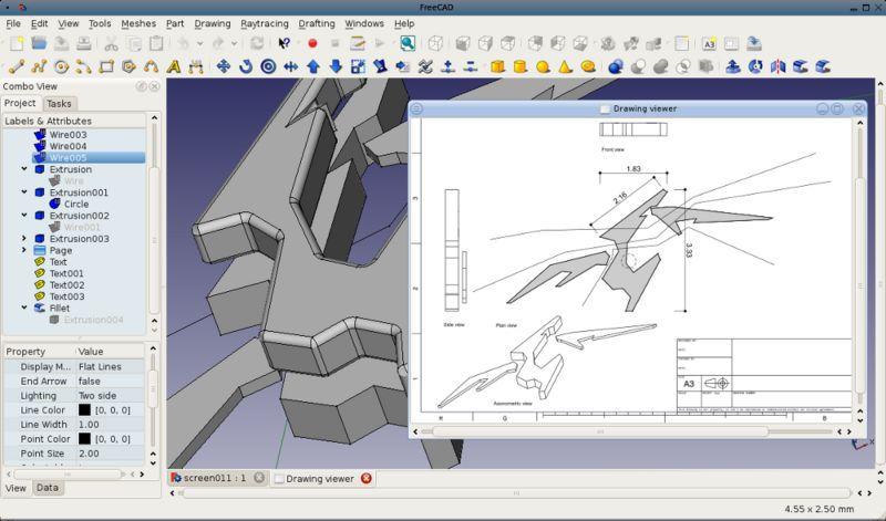 Vorschau FreeCAD for Linux - Bild 3