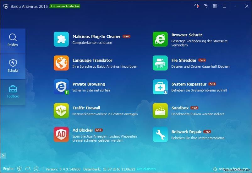 Vorschau Baidu Antivirus - Bild 3