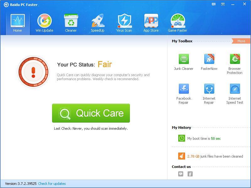 Vorschau Baidu PC Faster - Bild 3