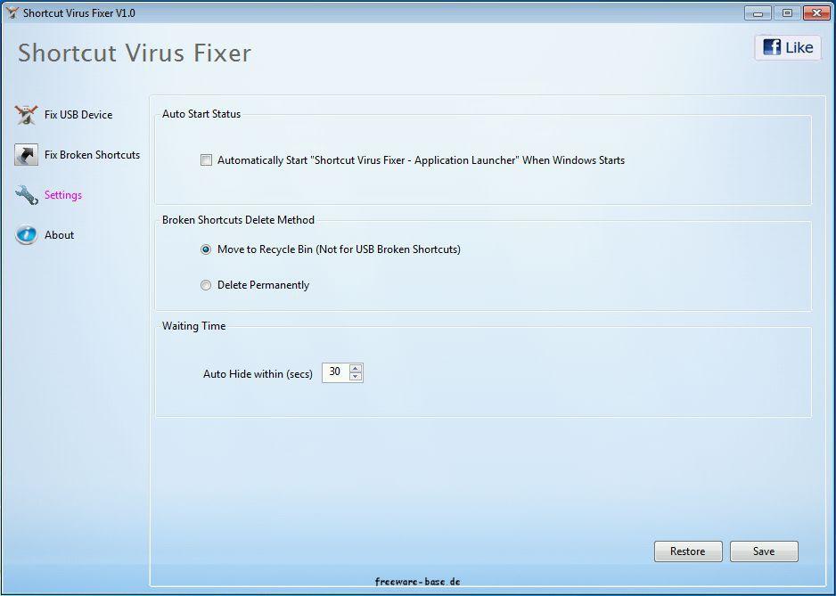 Vorschau Shortcut Virus Fixer - Bild 3