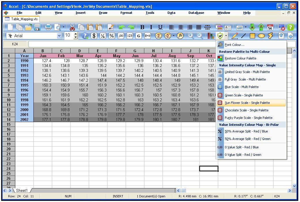 Vorschau SSuite Accel Spreadsheet - Bild 3