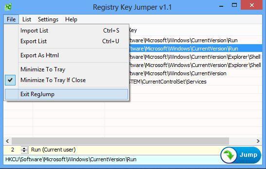 Vorschau Registry Key Jumper - Bild 3