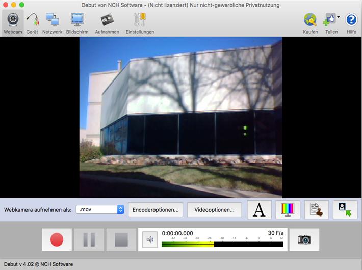 Vorschau Debut Video-Aufnahme-Programm Mac - Bild 3