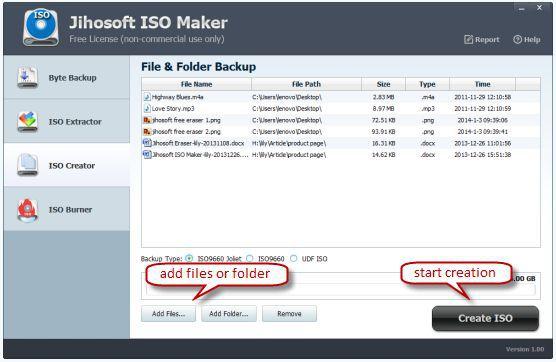 Vorschau Jihosoft ISO Maker Free - Bild 3