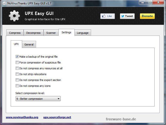 Vorschau UPX Easy GUI and Portable - Bild 3