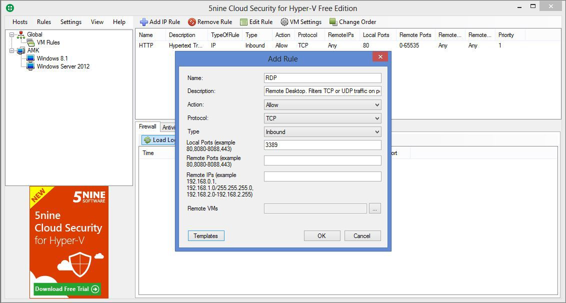 Vorschau 5nine Cloud Security for Hyper-V Free - Bild 3