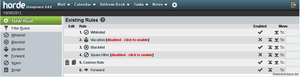 Vorschau Bitnami Horde Groupware Webmail für Mac - Bild 3