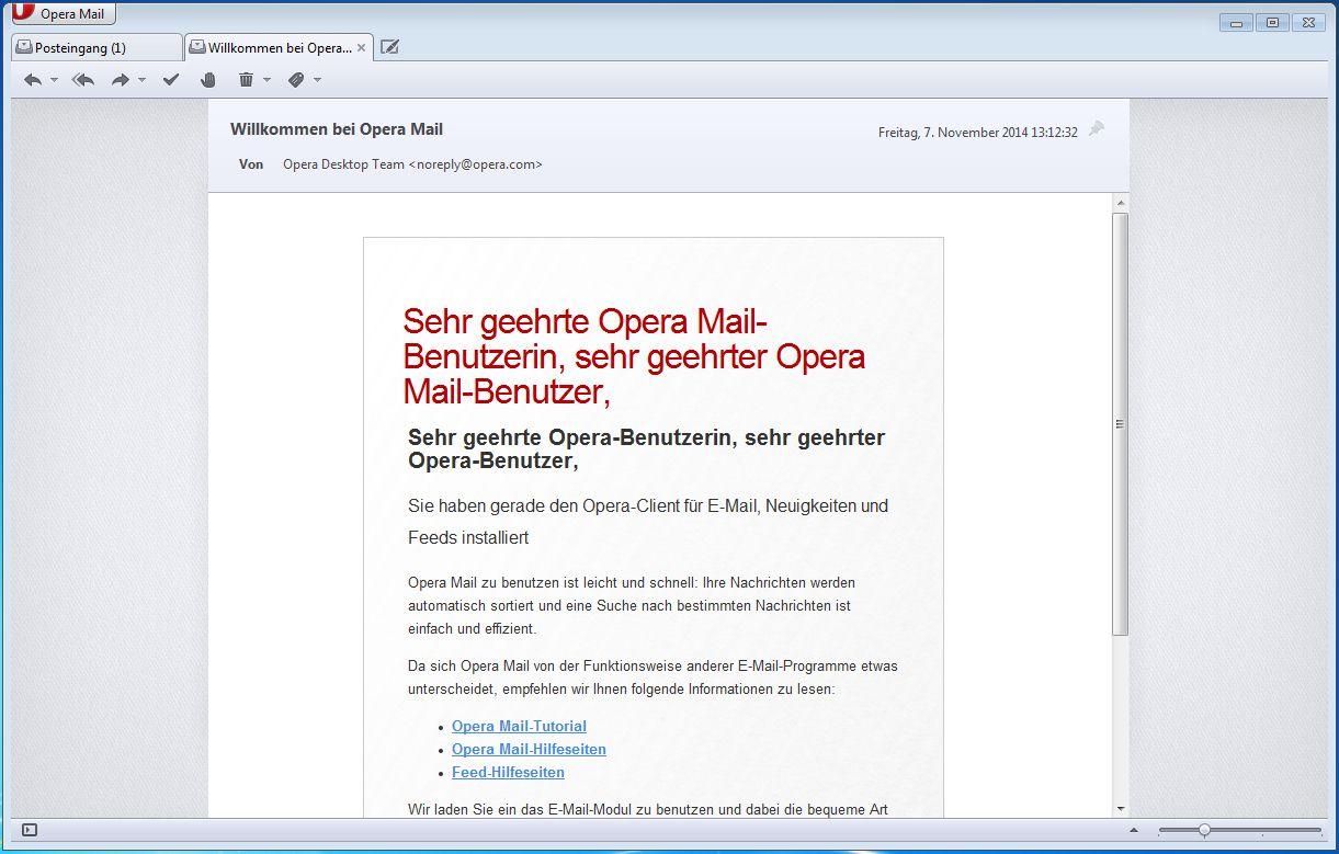 Vorschau Opera Mail - Bild 3