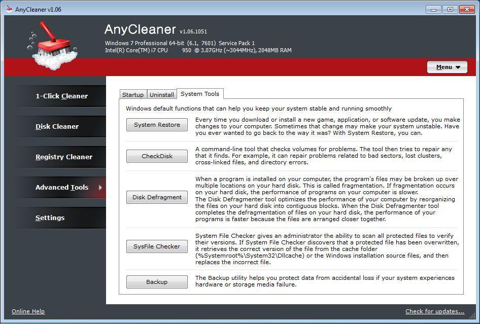 Vorschau AnyCleaner - Bild 3