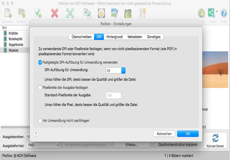 Vorschau Pixillion Bildkonverter Mac - Bild 3