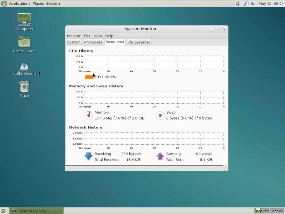 Vorschau Debian Live System MATE - Bild 3