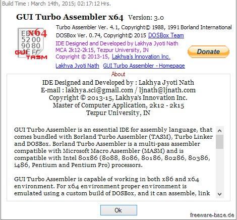 Vorschau GUI Turbo Assembler - Bild 3