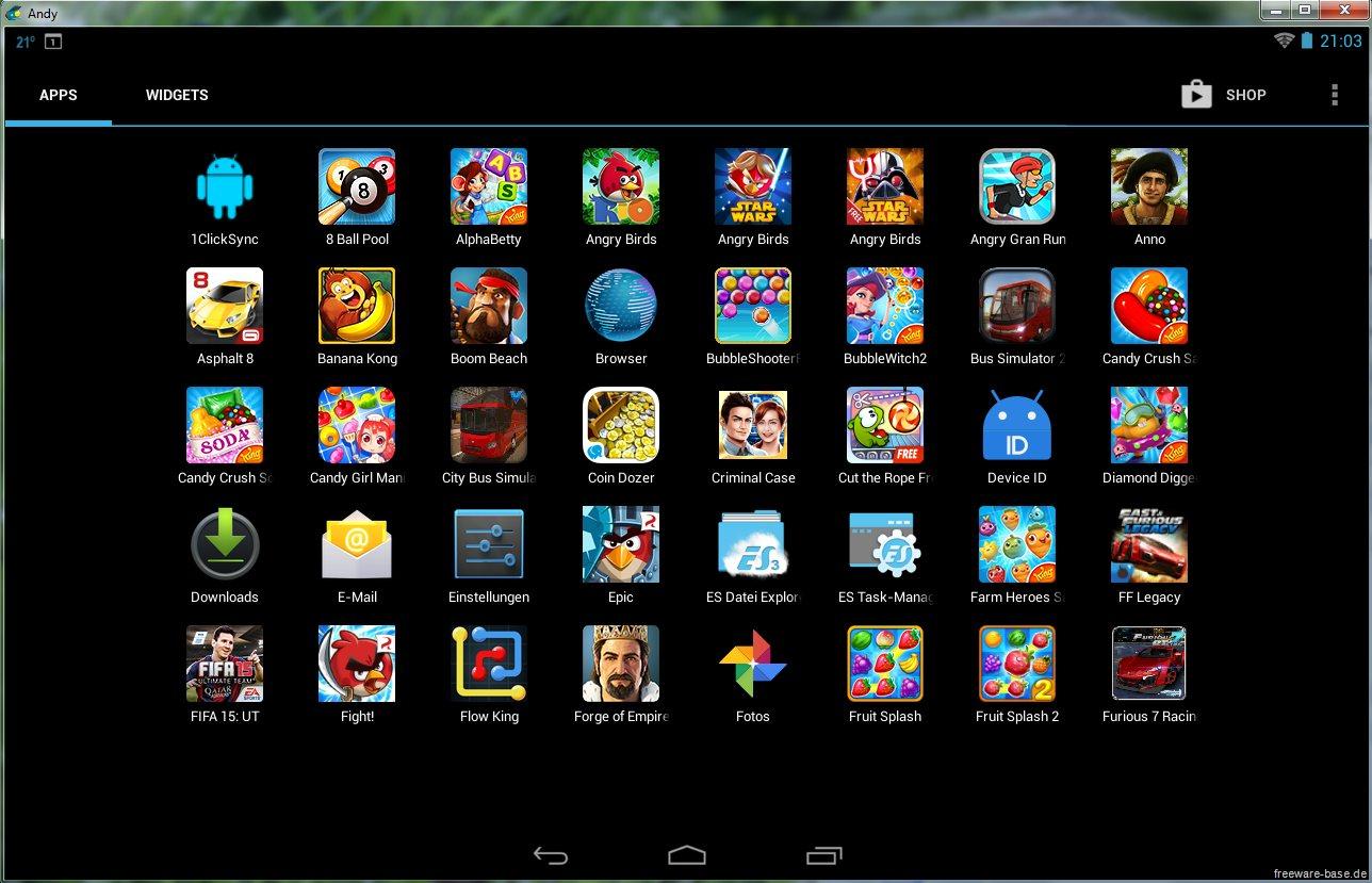 Vorschau Andy Android Emulator - Bild 3
