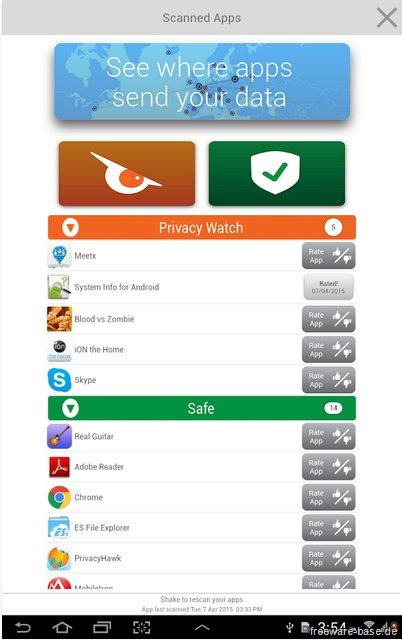 Vorschau PrivacyHawk fuer Android - Bild 3