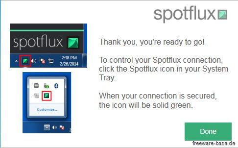 Vorschau Spotflux Free VPN - Bild 3