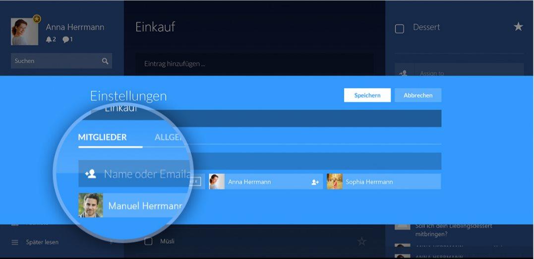 Vorschau Wunderlist fuer Windows - Bild 3