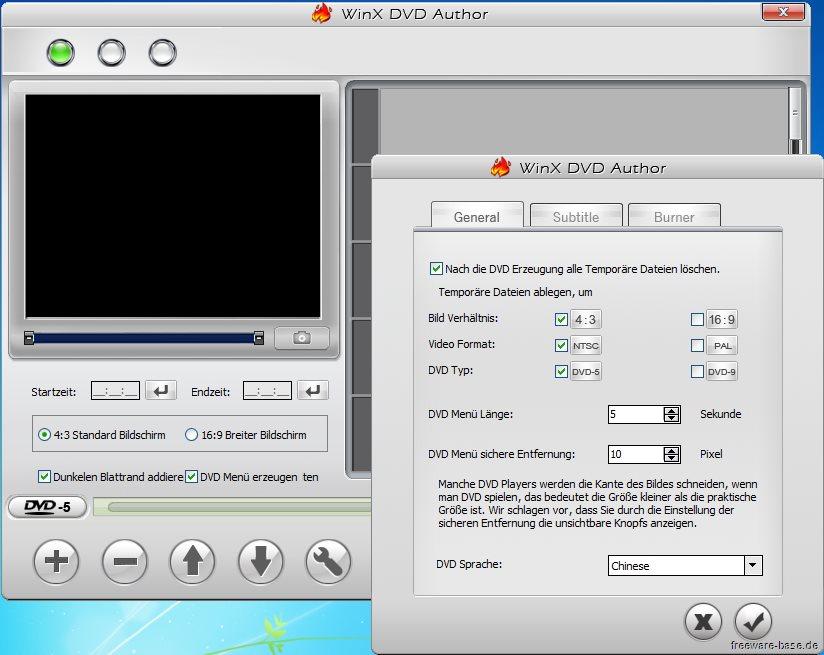 Vorschau WinX DVD Author - Bild 3