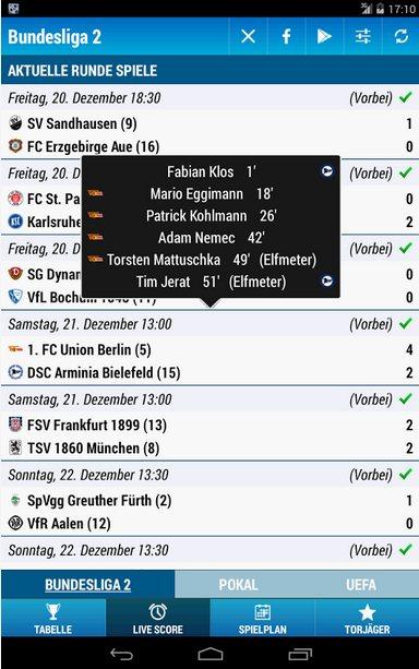 Vorschau Bundesliga 2 für Android - Bild 3