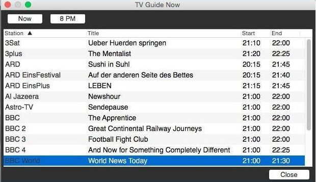 Vorschau onlineTV fuer Mac OS - Bild 3