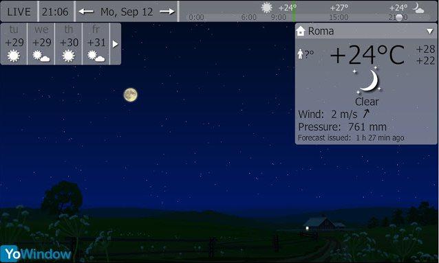 Vorschau YoWindow Wetter für Google Chrome - Bild 3