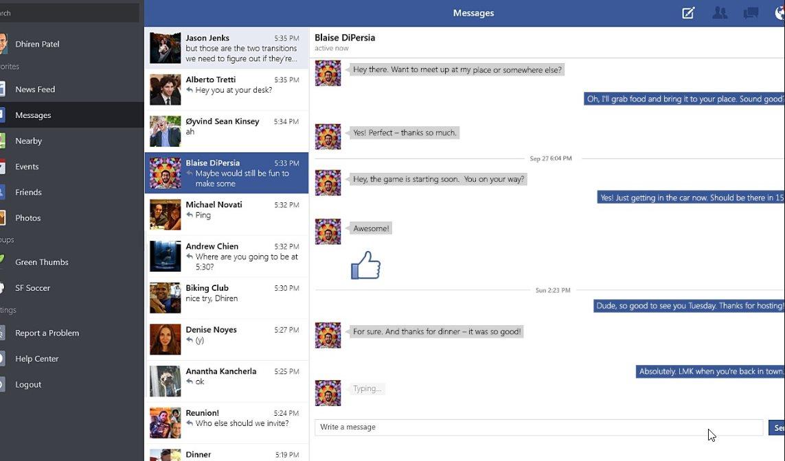 Vorschau Facebook für Windows 8 und 10 App - Bild 3