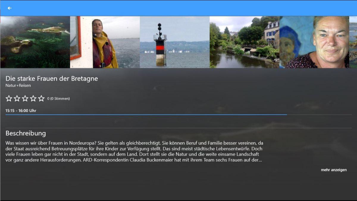 Vorschau TV App Live Fernsehen fuer Windows 8 und 10 App - Bild 3