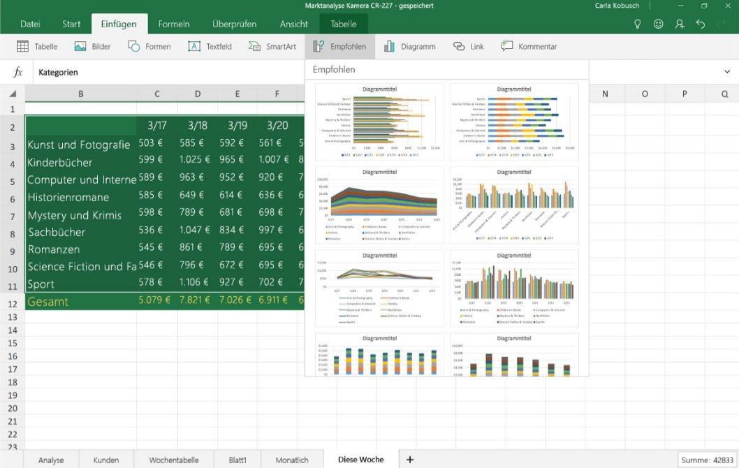 Vorschau Excel Mobile fuer Windows 10 App - Bild 3