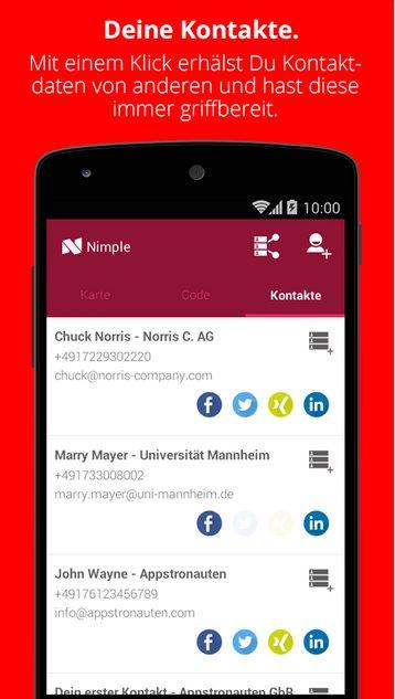 Vorschau Nimple - Networking Simple fuer Android - Bild 3