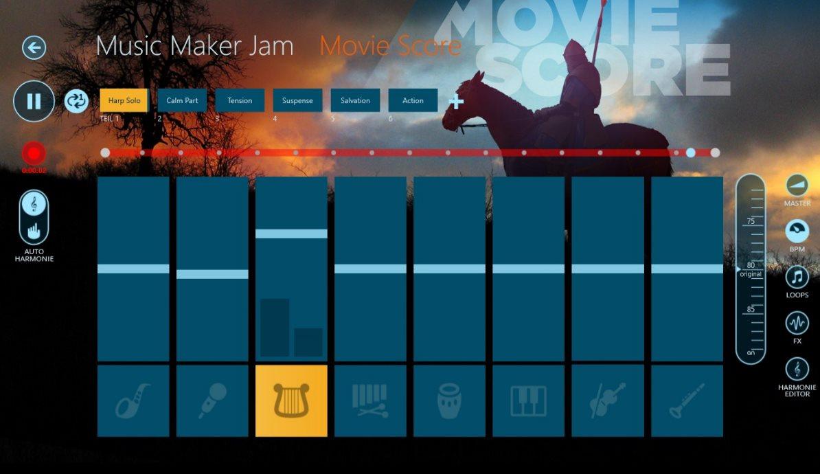 Vorschau Magix Music Maker Jam fuer Windows 8 und 10 App - Bild 3