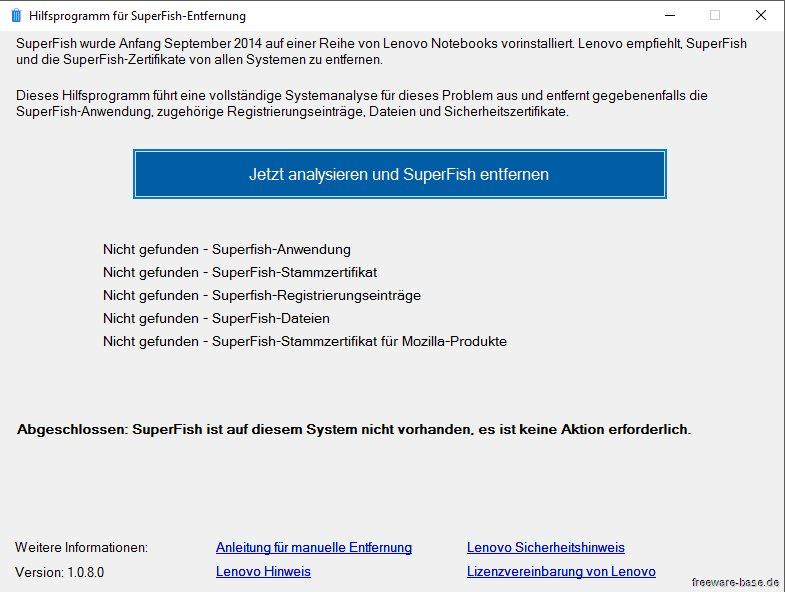 Vorschau Lenovo Superfish Automatic Removal Tool - Bild 3