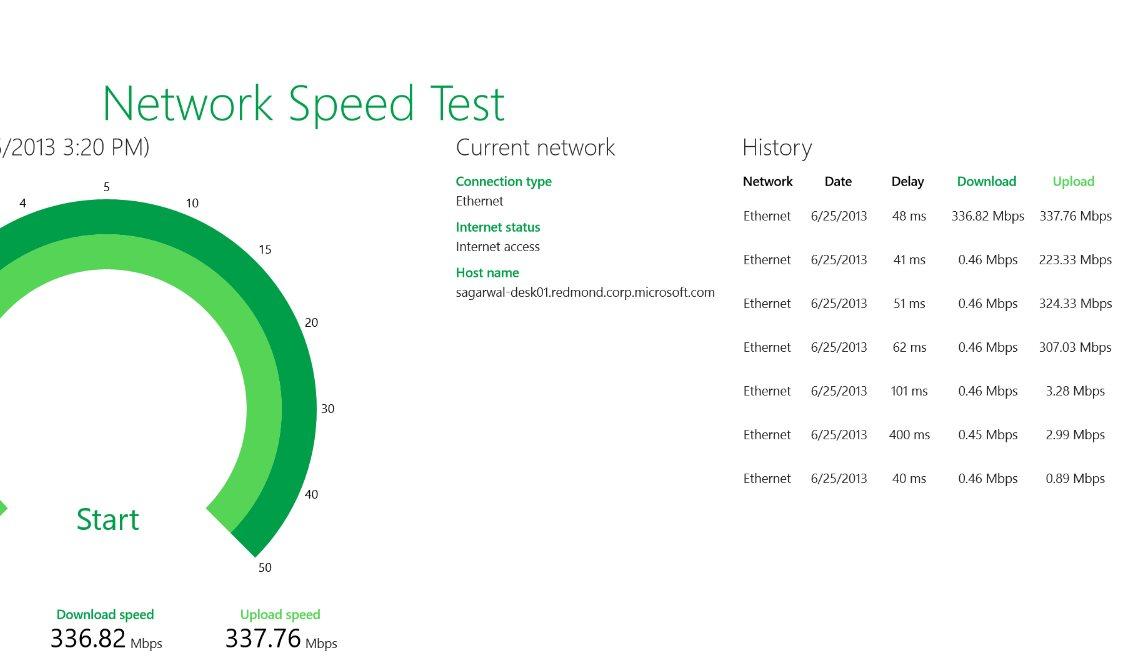 Vorschau Microsoft Network Speed Test fuer Windows 8 und 10 - Bild 3