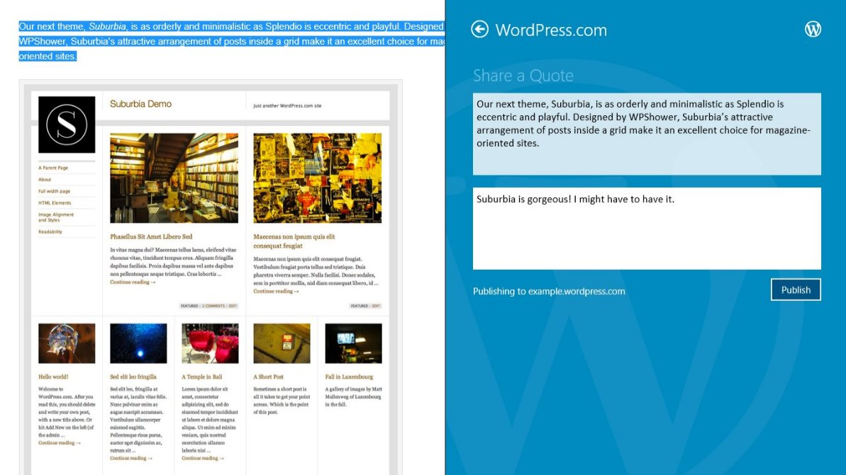 Vorschau Wordpress fuer Windows 8 und 10 - Bild 3