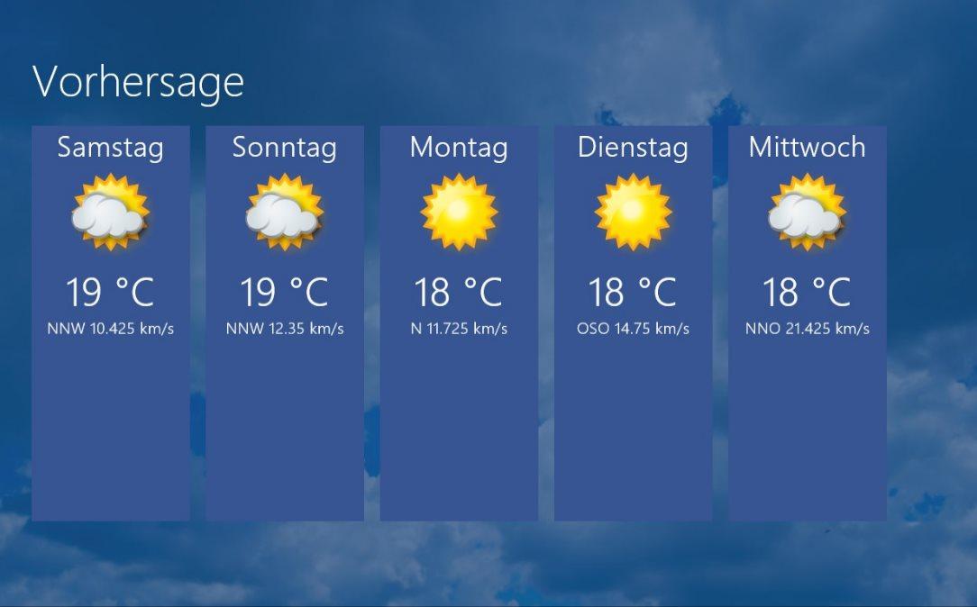 Vorschau Niederschlagsradar fuer Windows 8 und 10 - Bild 3