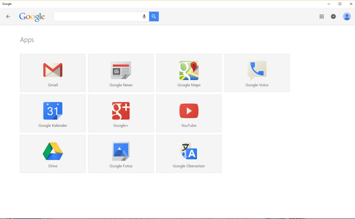 Vorschau Google Search fuer Windows 8 und 10 - Bild 3