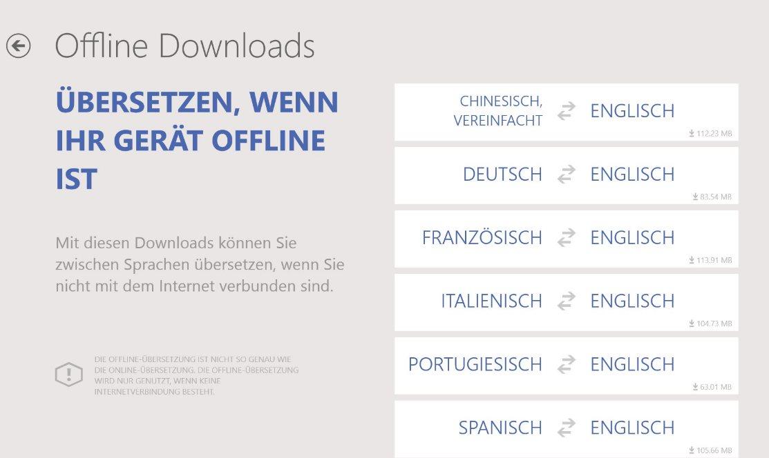 Vorschau Bing Uebersetzer für Windows 8 und 10 - Bild 3