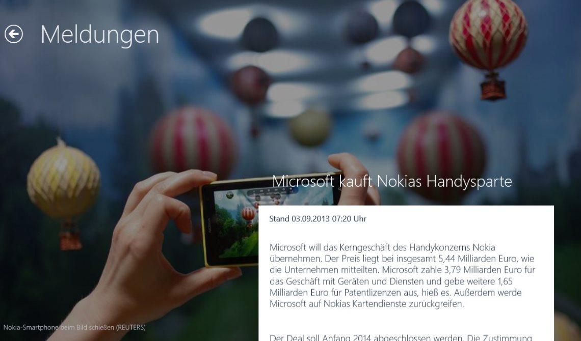 Vorschau Tagesschau fuer Windows 8 und 10 - Bild 3