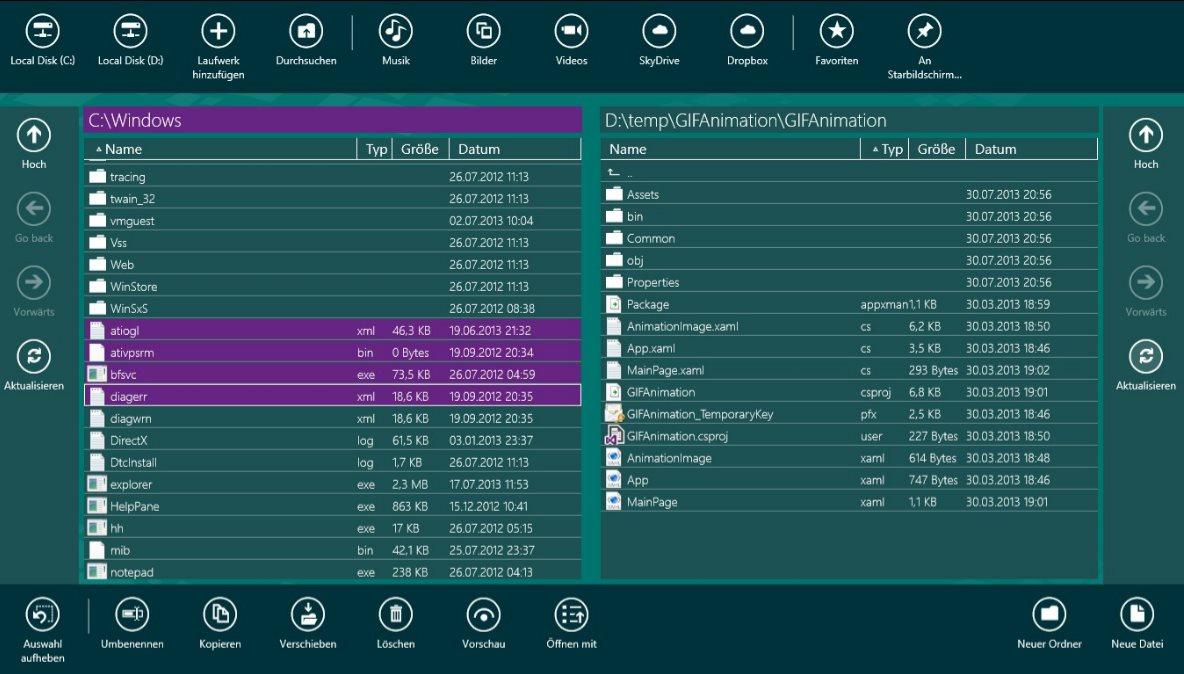 Vorschau Metro Commander fuer Windows 8 und 10 - Bild 3
