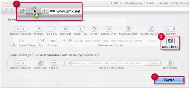 Vorschau GMX MailCheck fuer Safari - Bild 3