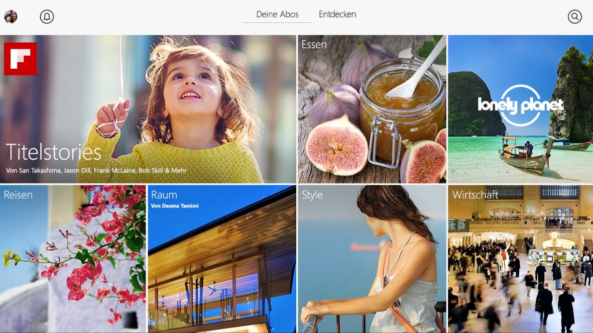 Vorschau Flipboard fuer Windows 8 und 10 - Bild 3