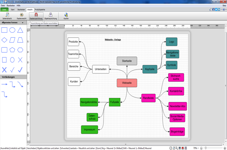 Vorschau ClickCharts Flussdiagrammsoftware - Bild 3