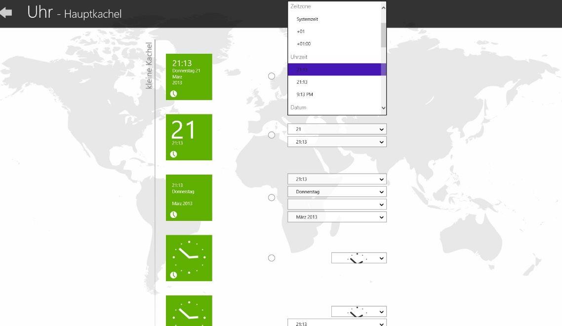 Vorschau Uhr fuer Windows 8 und 10 - Bild 3