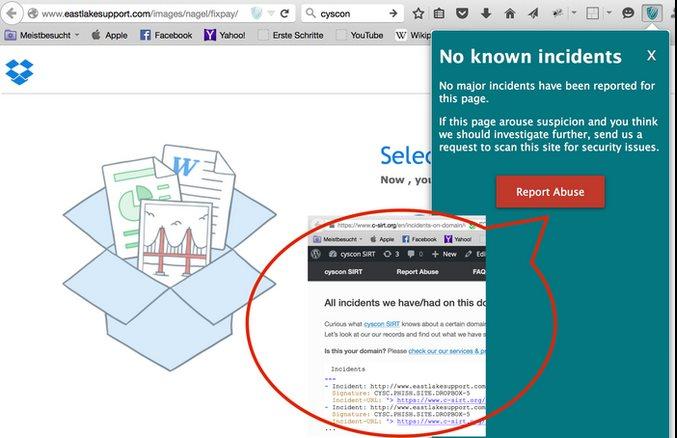 Vorschau Cyscon Security Shield für Firefox - Bild 3