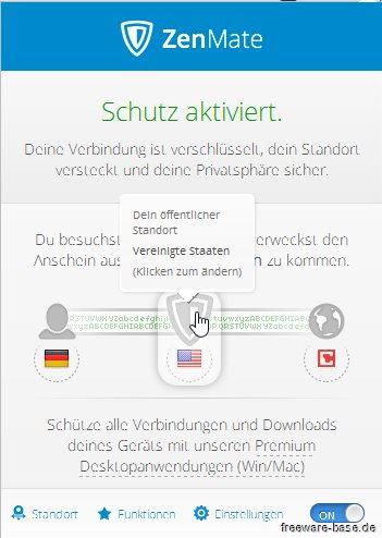 Vorschau ZenMate Security und Privacy VPN für Firefox - Bild 3