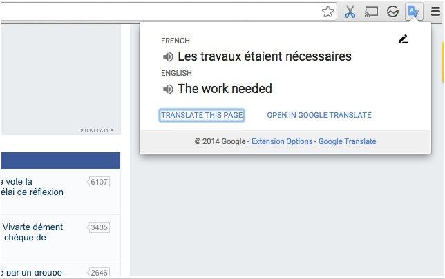 Vorschau Google Translate - Uebersetzer fuer Chrome - Bild 3